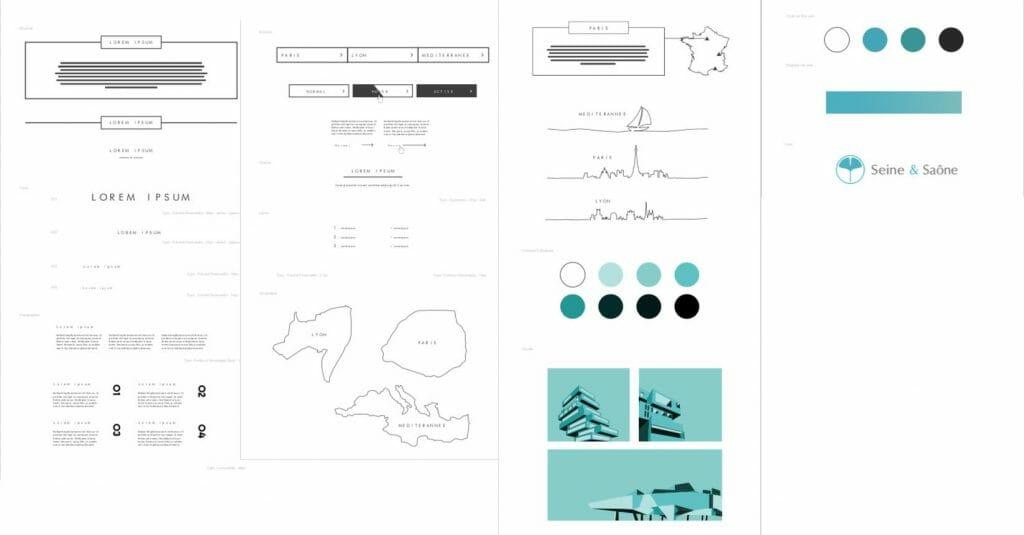 Exemple de charte graphique pour la réalisation d'un site web
